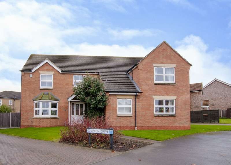 5 Bedrooms Detached House for sale in Jubilee Avenue, Market Rasen, Lincolnshire, LN8