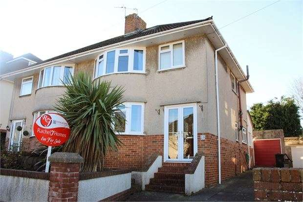 4 Bedrooms Semi Detached House for sale in Hillcroft Close, Worlebury, Weston super Mare, N Somerset. BS22 9RY