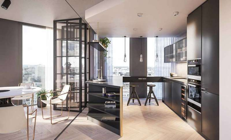 3 Bedrooms Flat for sale in One Crown Place, City, EC2A