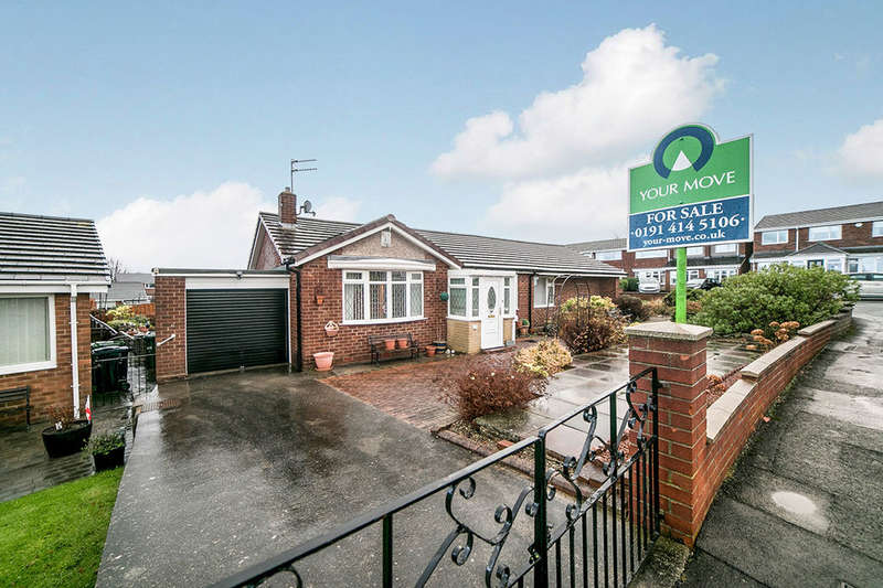 2 Bedrooms Semi Detached Bungalow for sale in Burnthouse Close, Blaydon-On-Tyne, NE21