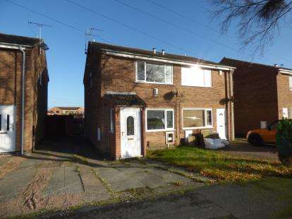 2 Bedrooms Semi Detached House for sale in Goathland Road, Stenson Fields, Derby, Derbyshire