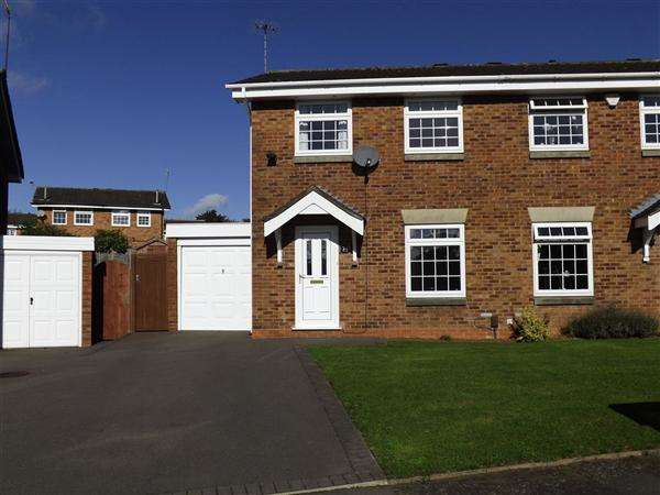 3 Bedrooms Semi Detached House for rent in Lydney Close, Redditch, Church Hill, Redditch