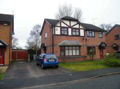 3 Bedrooms Semi Detached House for sale in Kestrel Drive, Crewe, Cheshire