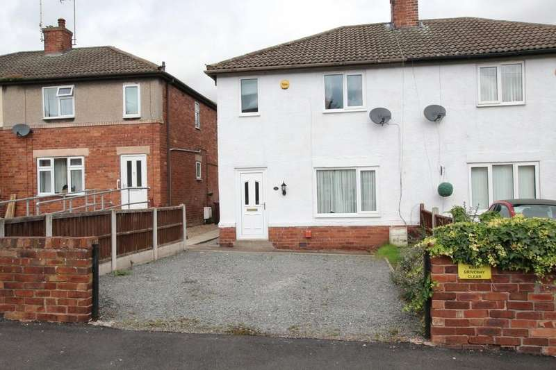 2 Bedrooms Semi Detached House for sale in 17, Churchfields, Creswell