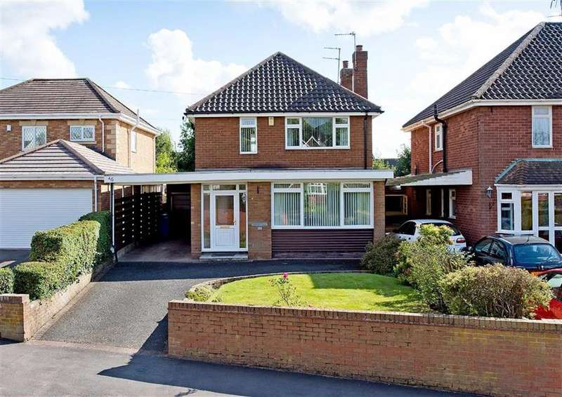 3 Bedrooms Detached House for sale in 46, Wood Road, Codsall, Wolverhampton, South Staffordshire, WV8