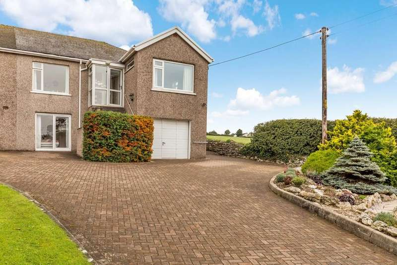 3 Bedrooms Semi Detached House for sale in Sunny Crest, Flookburgh road, Allithwaite., Grange over Sands, Cumbria, LA11 7RJ