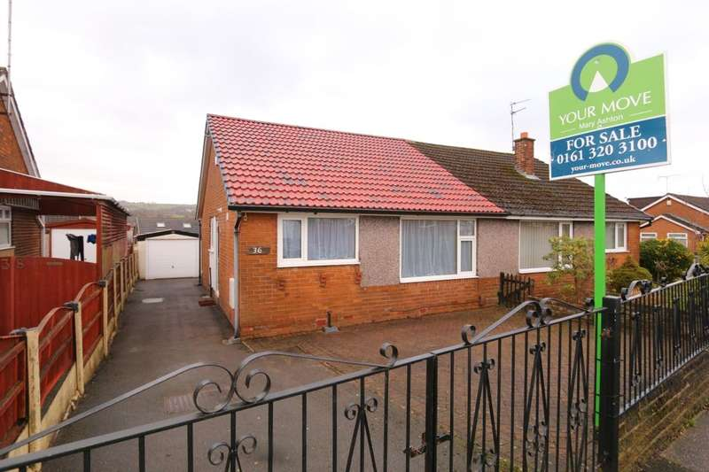 2 Bedrooms Semi Detached Bungalow for sale in Freshwater Drive, Denton, Manchester, M34