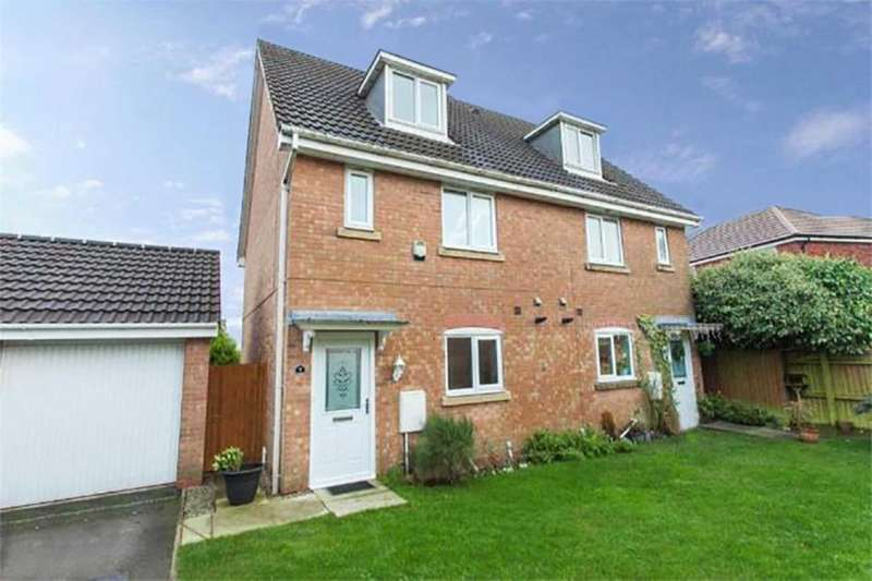 3 Bedrooms Semi Detached House for sale in Nuffield Close, Heaton