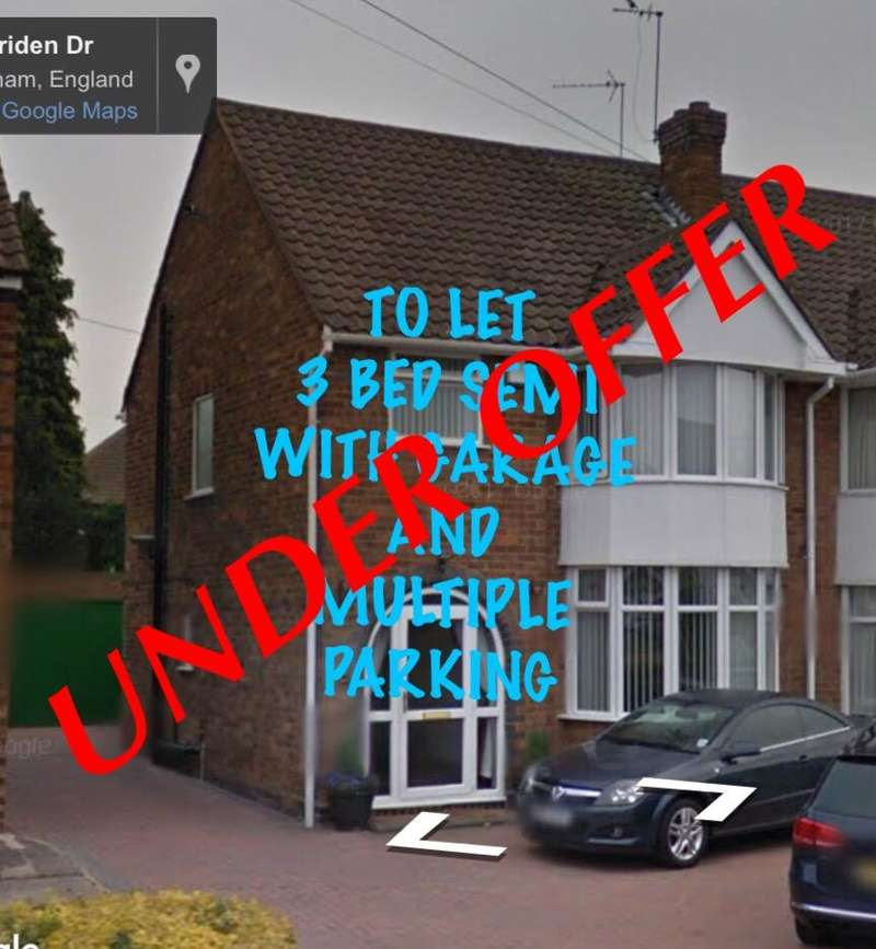 3 Bedrooms Semi Detached House for rent in Meriden drive, Solihull , Birmingham, West midlands, B37 6BT