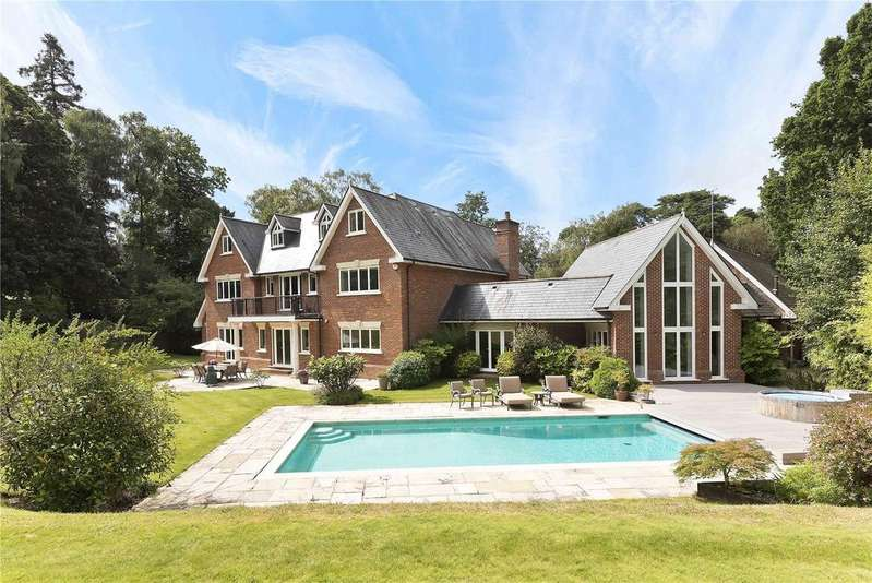 6 Bedrooms Detached House for sale in South Road, St. Georges Hill, Weybridge, Surrey, KT13