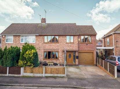 4 Bedrooms Semi Detached House for sale in Avon Avenue, Hucknall, Nottingham, Nottinghamshire