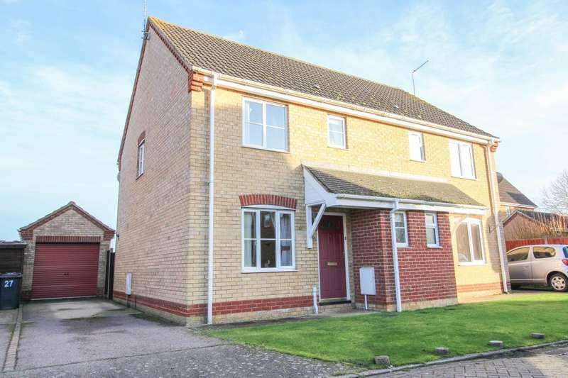 3 Bedrooms Semi Detached House for sale in Willow Close, Worlingham, Beccles, NR34