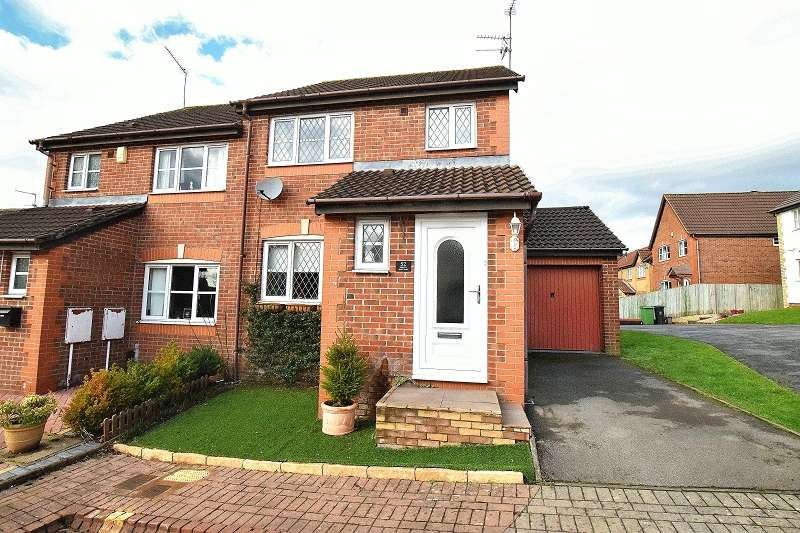 3 Bedrooms Semi Detached House for sale in Dartington Drive, Pontprennau, Cardiff. CF23 8SA