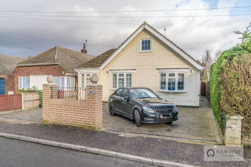 3 Bedrooms Detached Bungalow for sale in Old Church Road, Hopton, Great Yarmouth, NR31