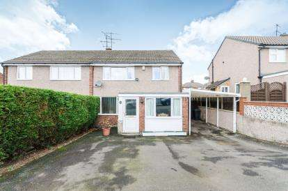 4 Bedrooms Semi Detached House for sale in Oakley Avenue, Brockwell, Chesterfield, Derbyshire