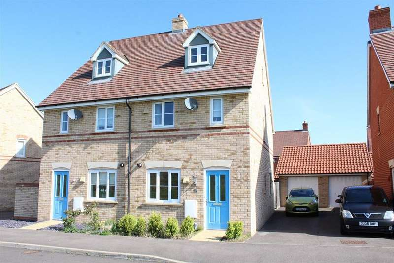 3 Bedrooms Semi Detached House for sale in Speedwell Way, Stotfold, Hitchin, SG5