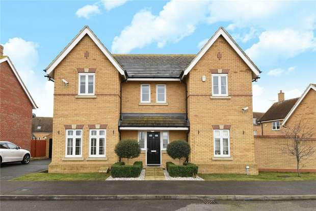 4 Bedrooms Detached House for sale in Crispin Drive, Woodlands Park, Bedford