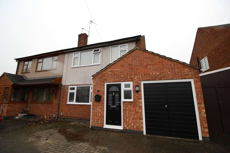 3 Bedrooms Semi Detached House for sale in Stafford Close, Bulkington, Bedworth, CV12