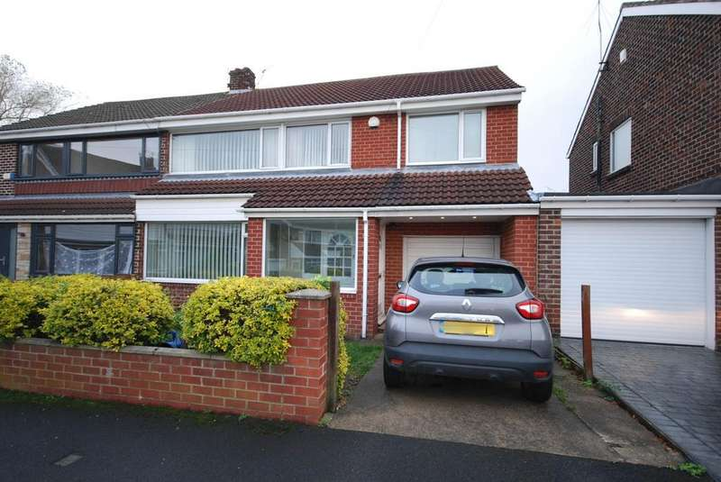 4 Bedrooms Semi Detached House for sale in Marian Drive, Bill Quay