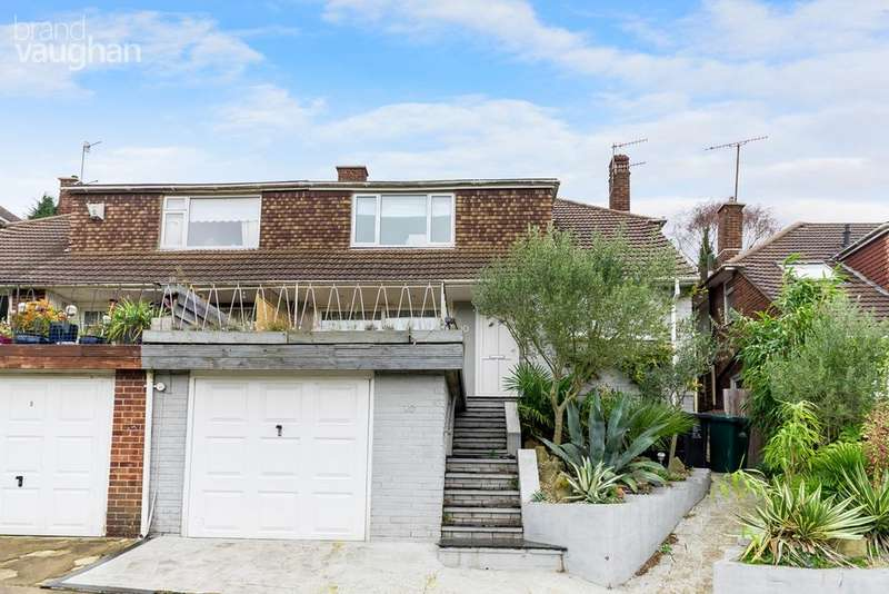 3 Bedrooms Semi Detached House for sale in Bankside, Brighton, BN1