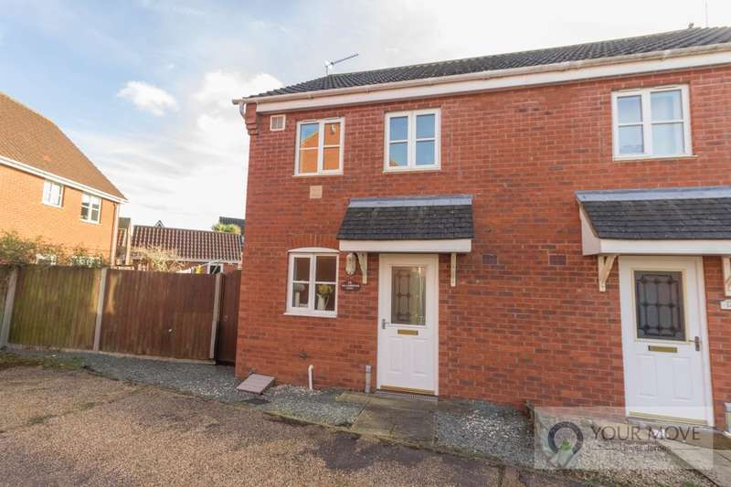 2 Bedrooms Semi Detached House for sale in Willowbrook Close, Carlton Colville, Lowestoft, NR33