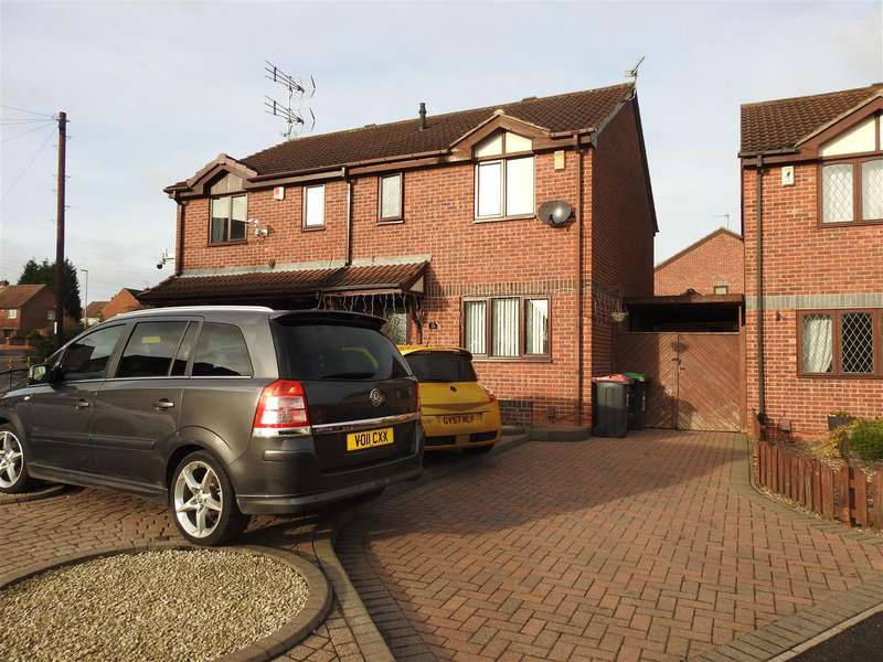 3 Bedrooms Semi Detached House for sale in Brickyard Drive, Hucknall, Nottingham