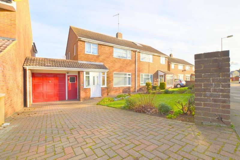 3 Bedrooms Semi Detached House for sale in Swasedale Road, Luton, LU3 2UB