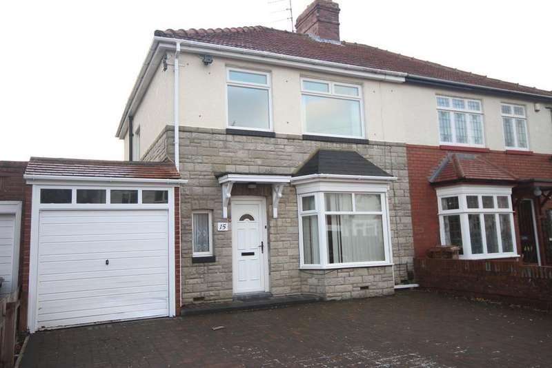 3 Bedrooms Semi Detached House for sale in Haig Avenue, Whitley Bay, NE25