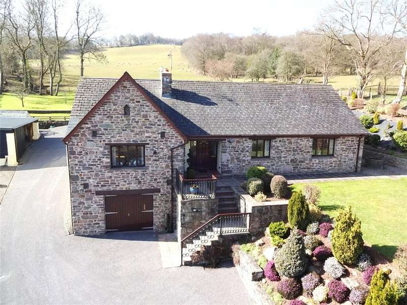 3 Bedrooms Detached Bungalow for sale in Pwllgloyw, Brecon, Powys