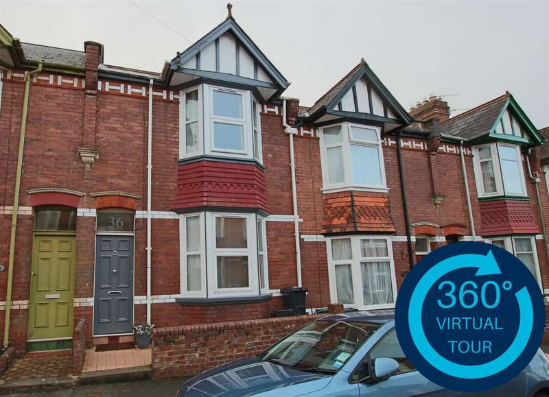 3 Bedrooms Terraced House for sale in East Grove Road, St Leonards, Exeter