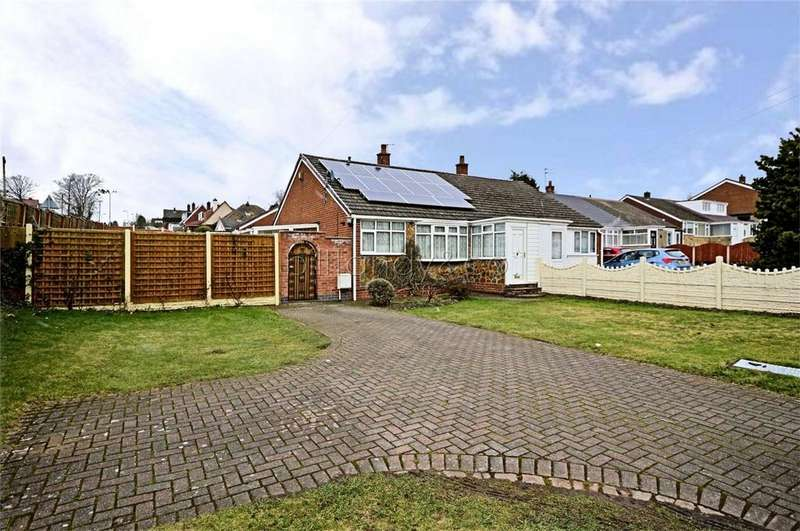 2 Bedrooms Semi Detached Bungalow for sale in Chase Road, Burntwood, Staffordshire
