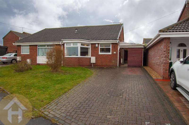 2 Bedrooms Semi Detached Bungalow for sale in Gainsborough Avenue, Royal Wootton Bassett.