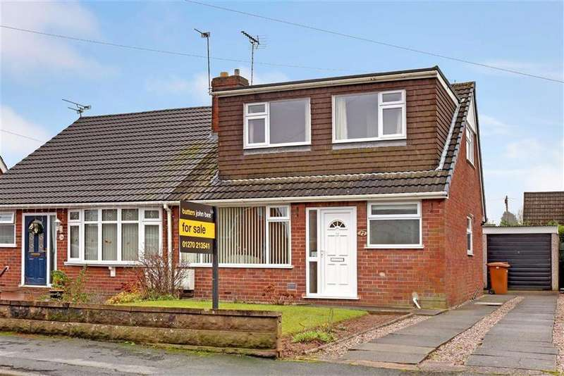 3 Bedrooms Semi Detached Bungalow for sale in Bradeley Road, Haslington, Crewe