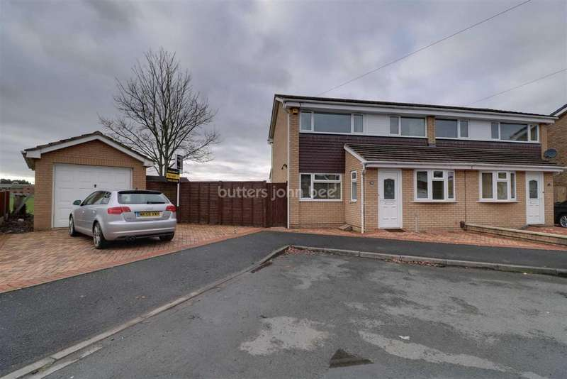 3 Bedrooms Semi Detached House for sale in Lodge Close, Shifnal, Telford