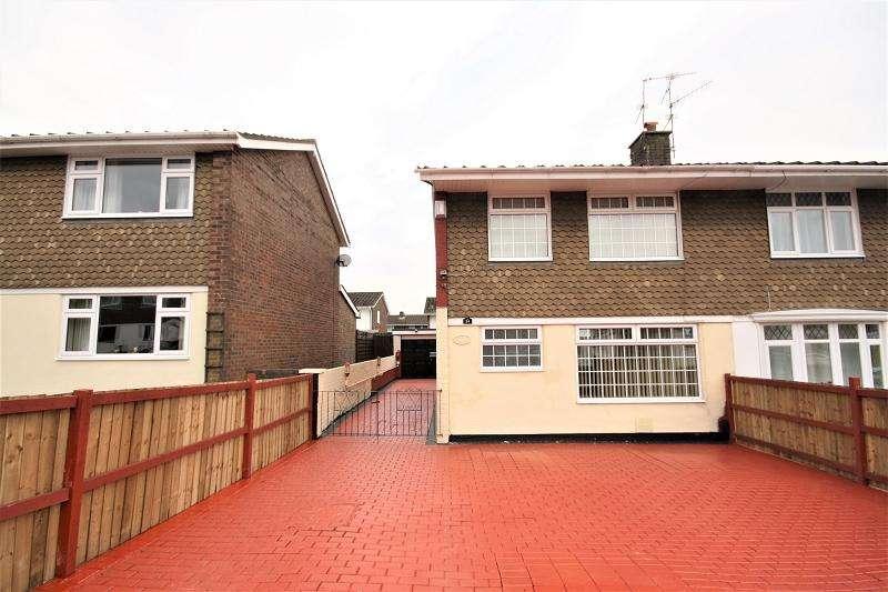 3 Bedrooms Semi Detached House for sale in Court Gardens, Rogerstone, Newport, Newport. NP10 9FU