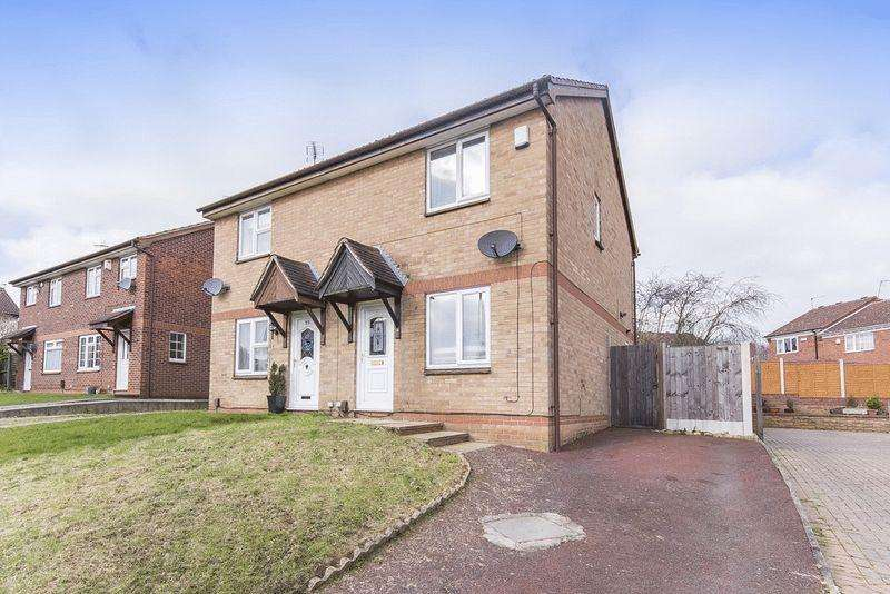 2 Bedrooms Semi Detached House for sale in TUXFORD CLOSE, OAKWOOD
