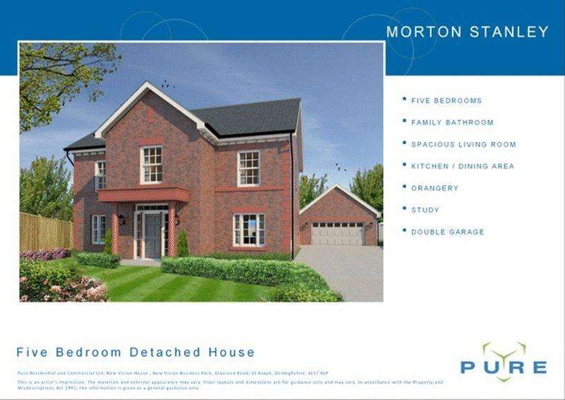 5 Bedrooms Detached House for sale in Plot 6, Livingstone Place, St. Asaph