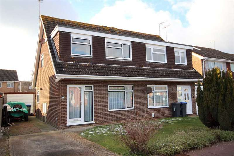 3 Bedrooms Semi Detached House for sale in Halifax Drive, Worthing, BN13