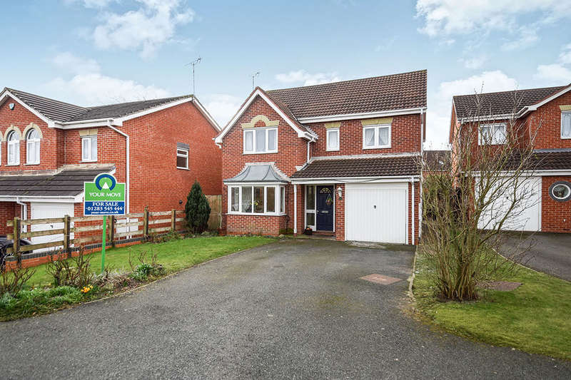 4 Bedrooms Detached House for sale in Mellor Drive, Uttoxeter, ST14