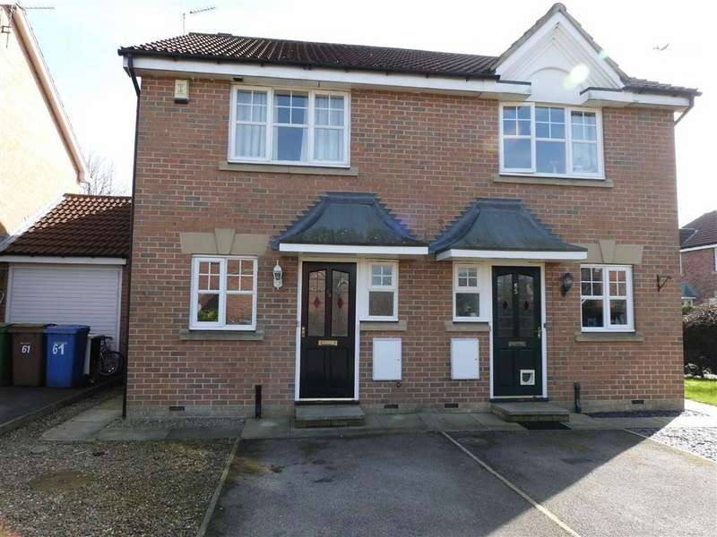 2 Bedrooms Semi Detached House for rent in Browning Road, Pocklington