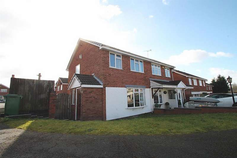3 Bedrooms Semi Detached House for sale in Foxhill Close, Cannock