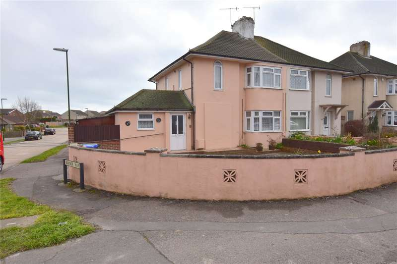 4 Bedrooms Semi Detached House for sale in Old Shoreham Road, Lancing, West Sussex, BN15