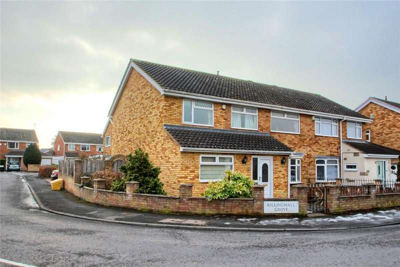 4 Bedrooms Semi Detached House for sale in Killinghall Grove, Hartburn