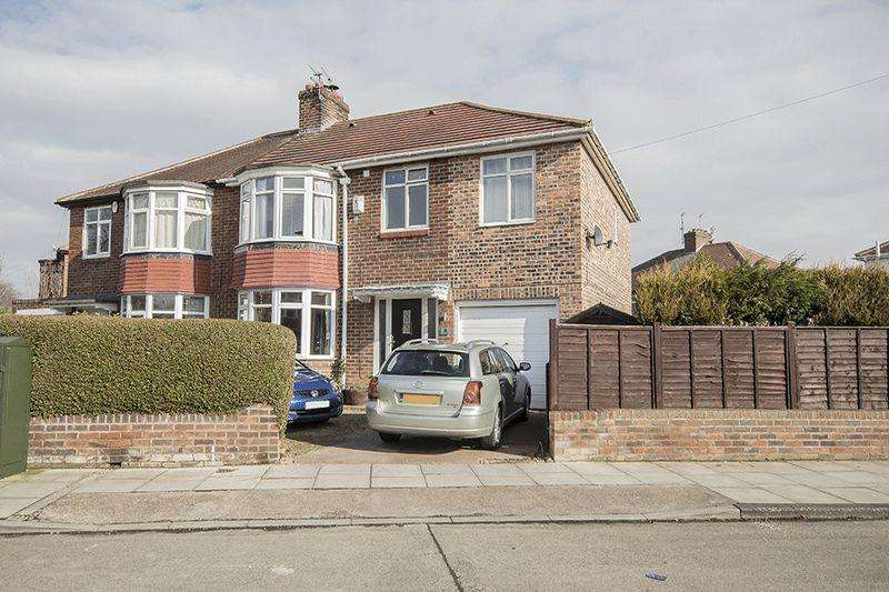 4 Bedrooms Semi Detached House for sale in Park Avenue, Grange Park, Gosforth, Newcastle upon Tyne