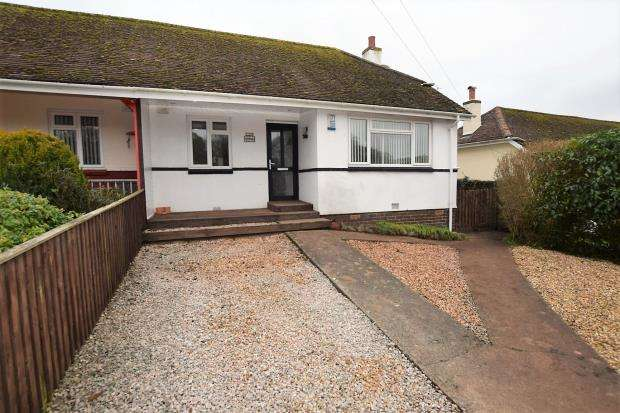 2 Bedrooms Semi Detached Bungalow for sale in Longstone Road, Paignton, Devon
