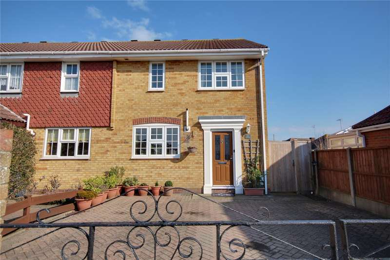 3 Bedrooms End Of Terrace House for sale in The Grovelands, Lancing, West Sussex, BN15