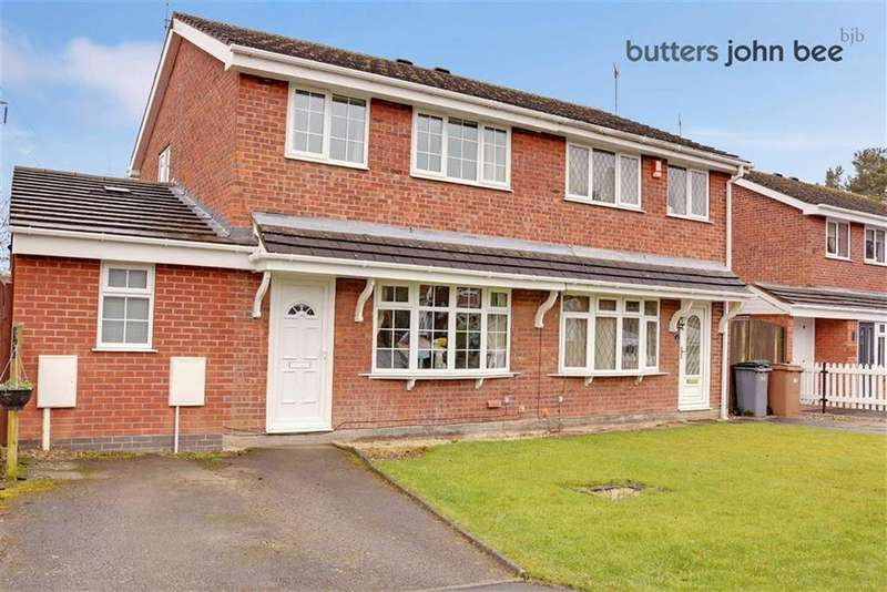 3 Bedrooms Semi Detached House for sale in Waterbeck Grove, Stoke-on-Trent, Staffordshire