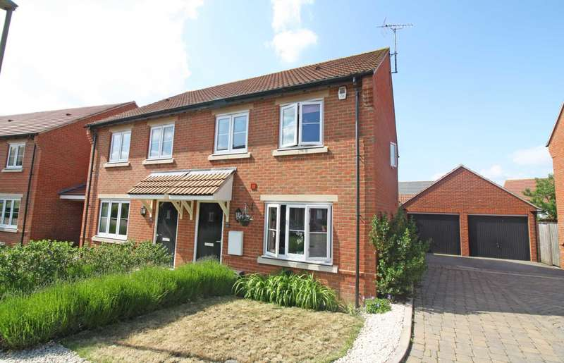 3 Bedrooms Semi Detached House for sale in Walnut Lane, Didcot