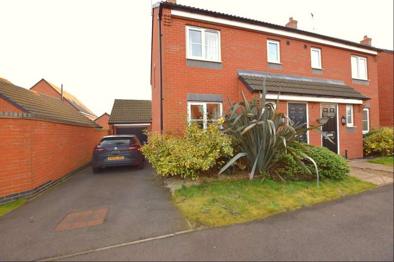 3 Bedrooms Semi Detached House for sale in Sandpit Drive, Birstall, Leicester, LE4