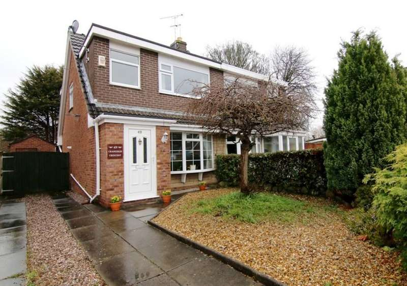 3 Bedrooms Semi Detached House for sale in Cranleigh Crescent, Chester